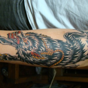 Wolf with Noose Tattoo