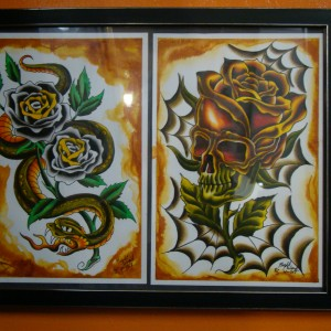NightWind Tattoo Flash Snake & Skull 2